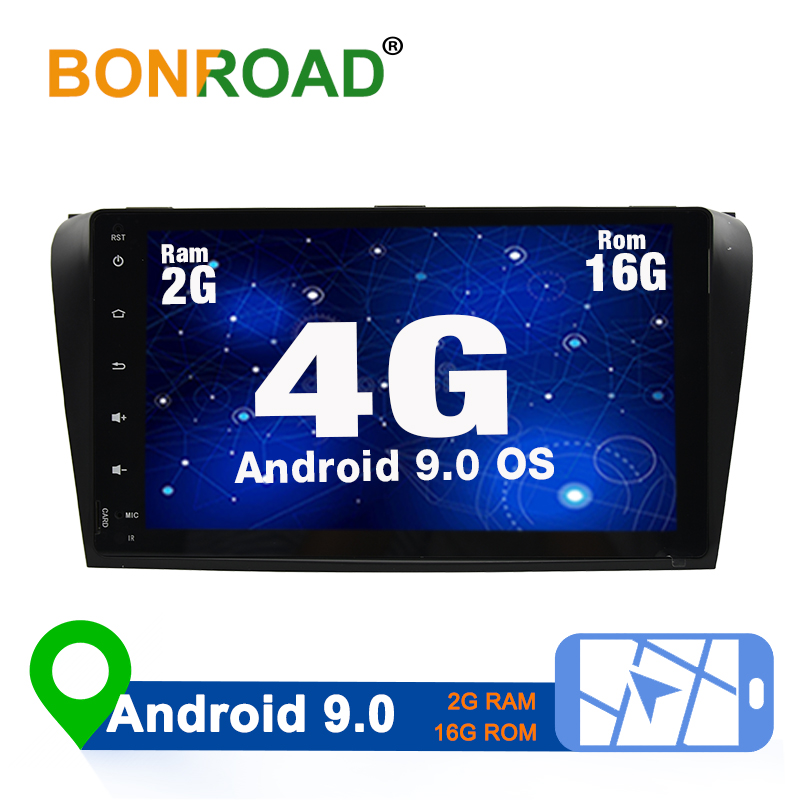 Bonroad Android 9.0 Car Multimedia Video Player Double 2 din For <font><b>Mazda3</b></font> 2006 <font><b>2007</b></font> 2008 Wifi Radio Video GPS MP3 (no dvd) image