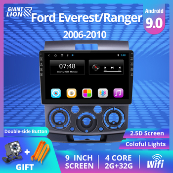 2DIN Android 9.0 Car Multimedia Player For Ford Everest/Ranger For Mazda BT- 50 Radio Stereo GPS Navigation 2006-2010 DVD Player image