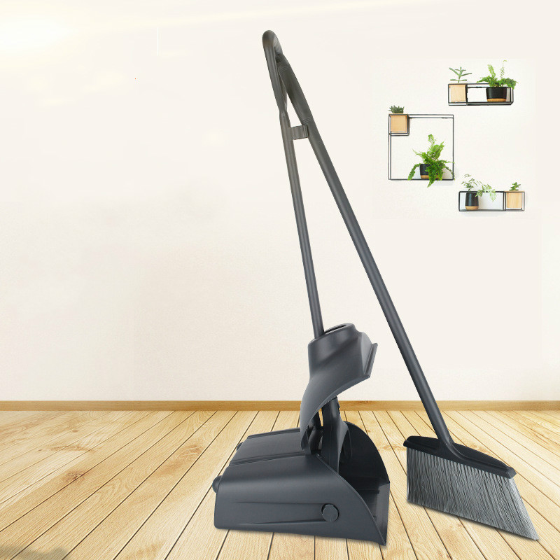 Baiyun Windproof Smashing Broom Dust Shovel Broom Set Plastic Broom Broom  LB829141