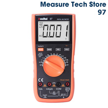 VC97 Victor RuoShui Digital Multimeter Auto Range True RMS Resistance Capacitance Temperature Multimetro multimeter lo z temp victor vc890c digital multimeter true multimeter capacitor temperature measurement multimeter digital professional