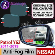 For Nissan Patrol 2011~2019 Y62 Armada Full Cover Anti Fog Film Rearview Mirror Anti-Fog Films Accessories 2014 2015 2016 2017 2013 2017 non slip console tray central armest tray refrigerator for nissan patrol y62 armada accessories