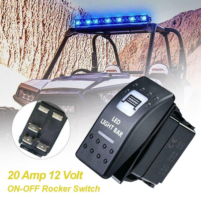 1Pcs Fit Für Can Am Maverick X3 Kommandant Defender LED Licht Bar Schalter Weiß Licht Auto Relais