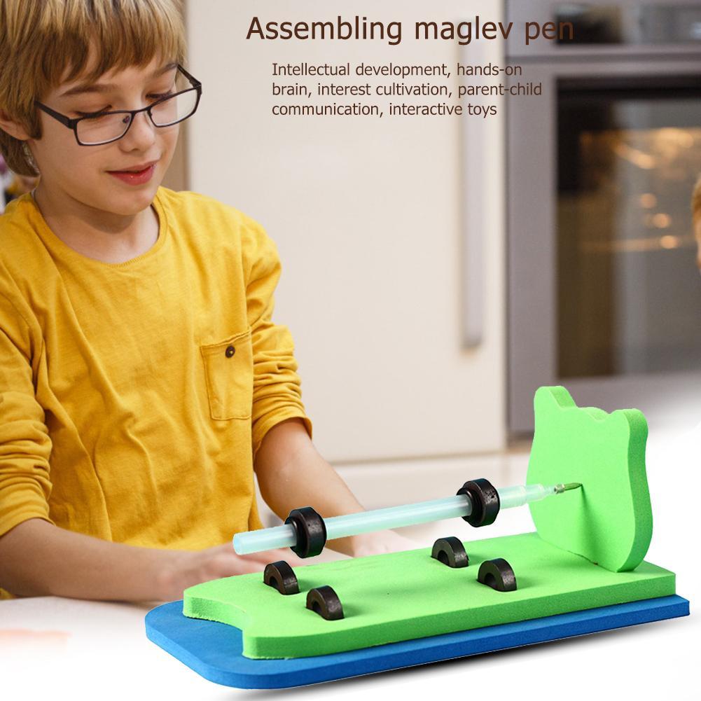 Kids DIY Magnetic Levitation Pen Toy Added Interest Enhance Development Hand Muscles Physics Science Technology Experiment Kits