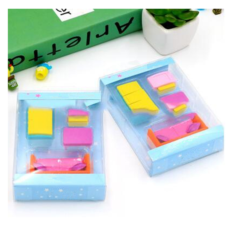 Eraser School Office Stationery Mini Sofa Fridge TV Shaped Eraser For Christmas Gift Student Personal Collection