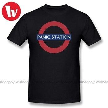 цена на Muse T-Shirt Men Letter Print Panic Station Music Tee Shirt Summer Beach T Shirts For Men T Shirt Short Sleeve Casual T-Shirts