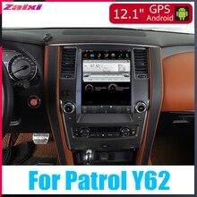 цена на ZaiXi Android Car Multimedia GPS For Nissan Patrol Y62 2010~2019 Radio vertical screen tesla screen Radio Video USB DAB+