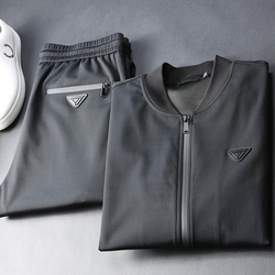JSBD degli uomini di marca allentato collare baseball strisce a due pezzi da uomo pilot giacca autunno inverno pressione colla impermeabile vestito di sport