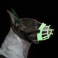 Dog-Muzzle-Mask Silicone Anti-Biting Reflective Adjustable Small Big-Dogs Large for Mouth-Cover