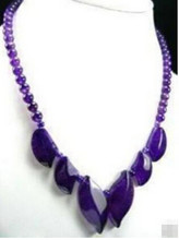 +++819 Royal purple Amethyst necklace(China)