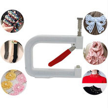 1Set Manual Nailed Bead Machine Clothing Manual Pearl Cap Bead Rivet Craft for DIY Repair Knitting Lace Hat Hair Tools