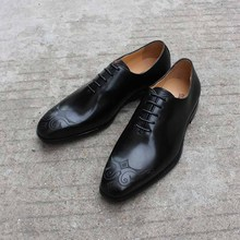 цены Italian Shoes Real Leather Pointed Toe Derby Mens Shoes Formal Dress Party Shoes Male Luxury Classic Footwear Size 11 for Summer