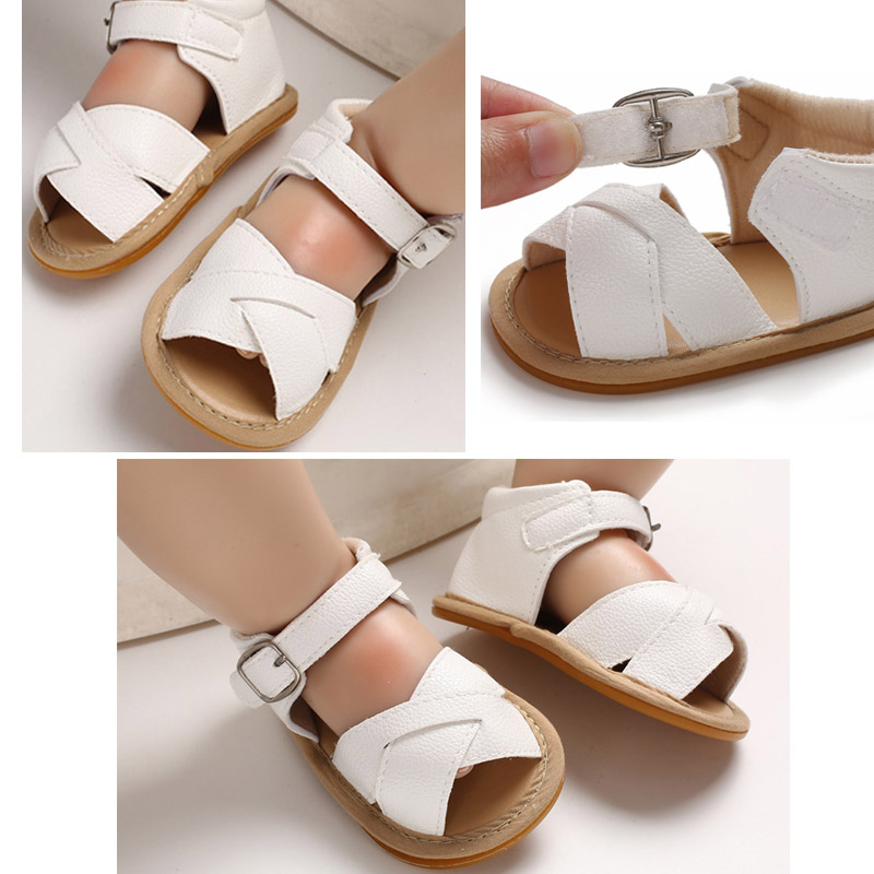 Summer Baby Girl Sandals Toddler Soft Sole Crib Sandals Artificial PU Non-slip Infant Girl Sandal Pre Walker Shoe