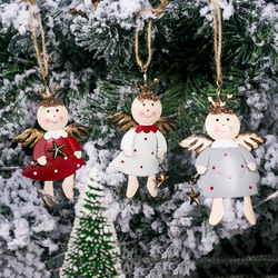 Iron Painted Star Angel Pendant Christmas Decoration 2020 New Year Decora Child Toy Navidad Gift Christmas Decorations for Home 1