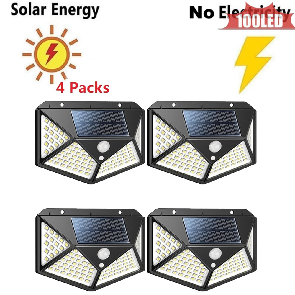100 LED Waterproof Solar Buitenlamp Outdoor Lamp Motion Sensor Detector Wall Light Path Garage Patio Lighting Security Night Lig
