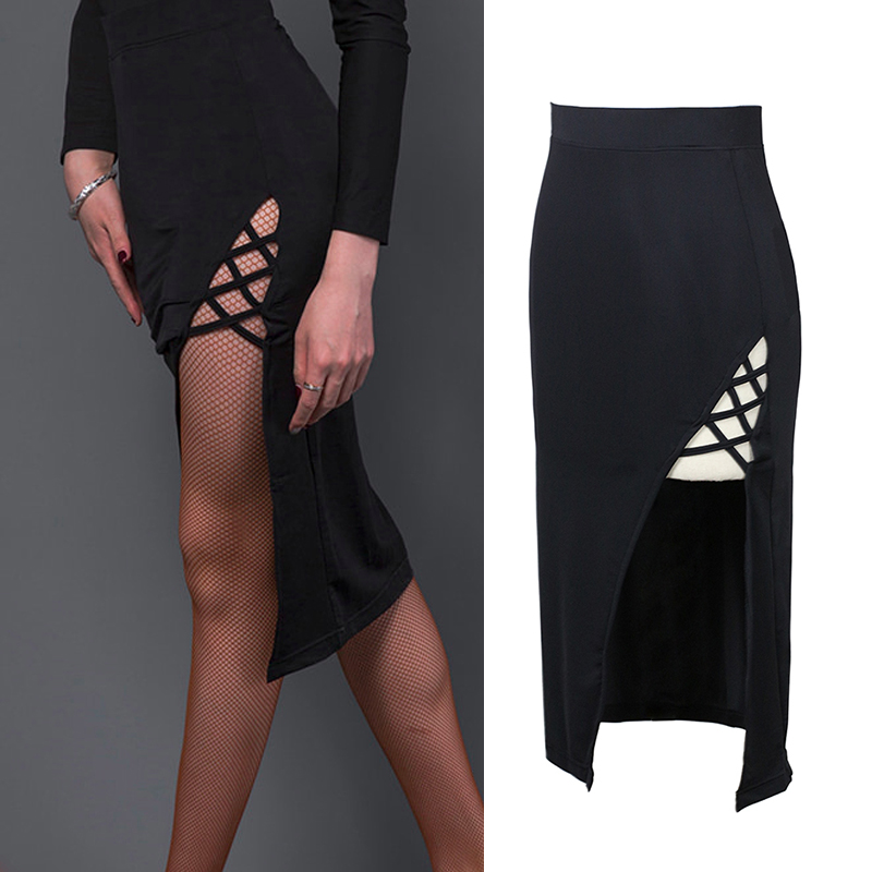2019 Latin Dance Skirt For Woman Sexy Slim Skirt S Latino Training Suit Female Professional Ballroom Samba Practice Wear DL4417