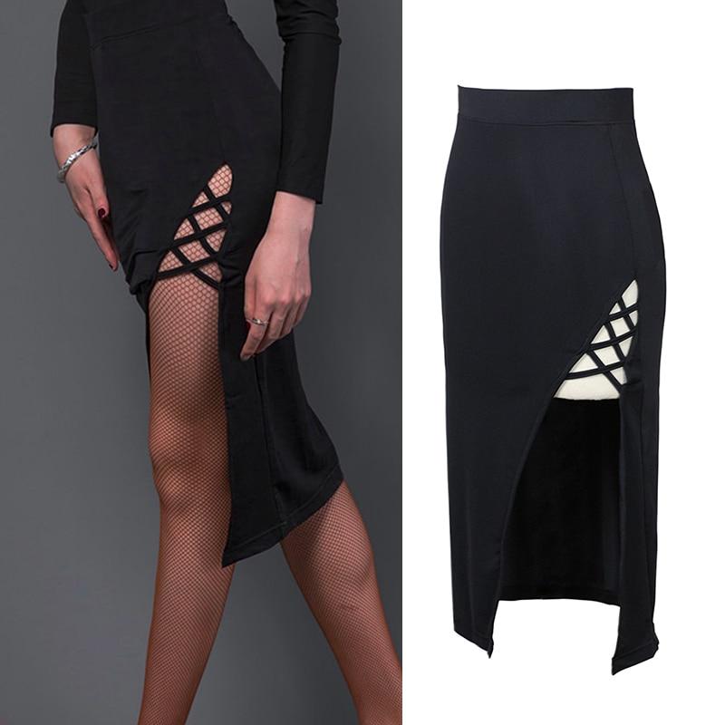 2019 Latin Dance Skirt For Woman Sexy Slim Skirt S Latino Training Suit Female Professional Ballroom Samba Practice Wear DL4417