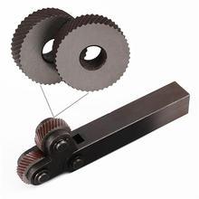 Knurling-Tool Lathe Industry-Machine Dual-Wheel for 2pcs Premium Professional Durable