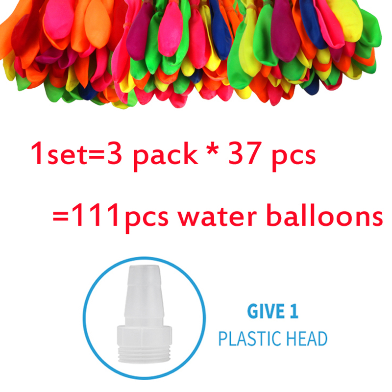 111pcs Creative Water Balloons Filling Magic Balloon Children Water War Game Supplies Kids Summer Outdoor Party Beach Toy