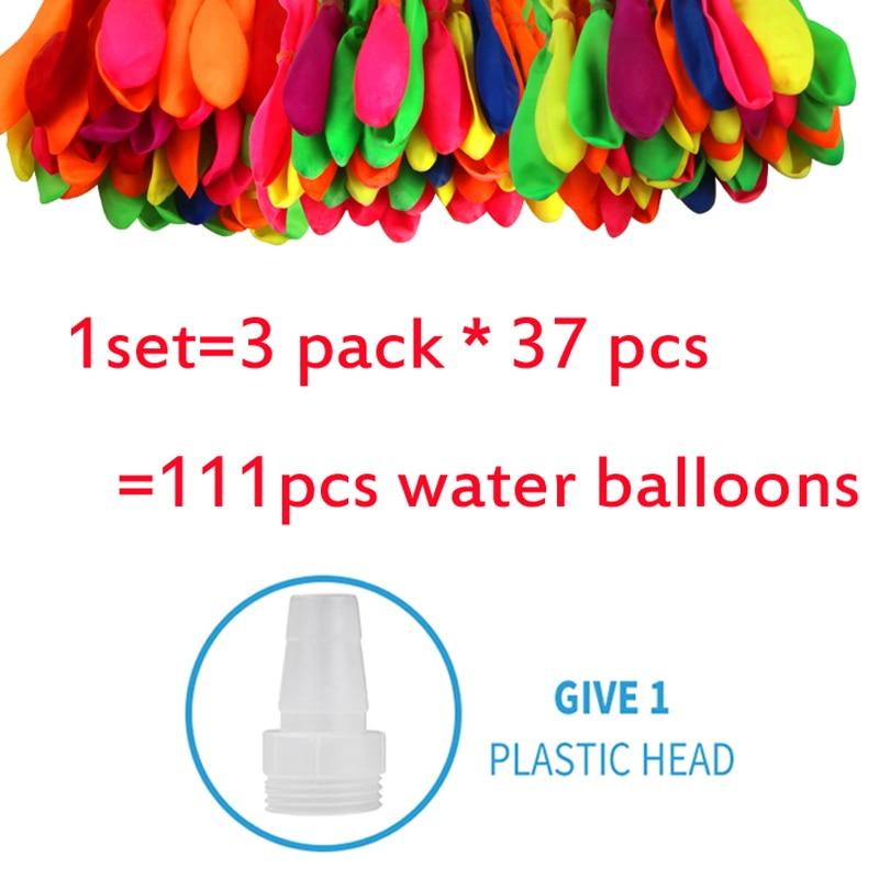 111pcs Creative Water Balloons Filling Magic Balloon Children Water War Game Supplies Kids Summer Outdoor Party Beach Toy