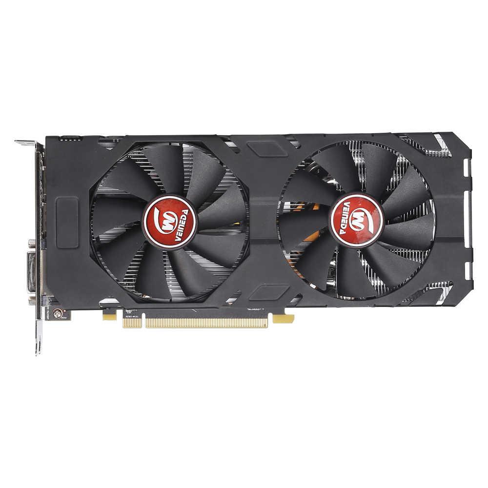 וידאו כרטיס Radeon RX 470 8GB 256Bit GDDR5 rx 470 PCI Express 3.0x16 AM שולחן העבודה משחק גרפי כרטיסים לא כרייה תואם rx 580