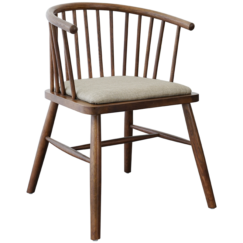 Nordic Chair Solid Wood Windsor Sitting White Oak Dining  Leisure Home Study