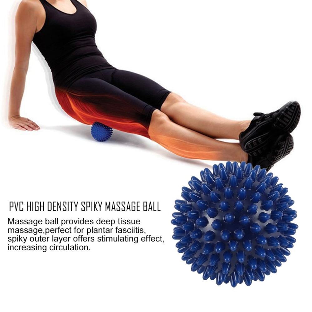 6-8cm Durable PVC Spiky Massage Ball Trigger Point Sport Fitness Hand Foot Pain Relief Plantar Fasciitis Reliever Hedgehog Ball