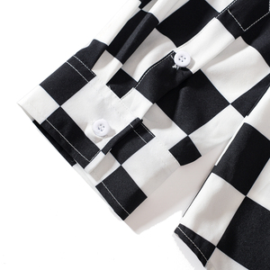 Image 4 - EFUNGAL 2019 Fall Shirt Men Women Long Sleeve Hip Hop Streetwear Harajuku Plaid Utopia Shirts Casual Slim Outwear Male Tops