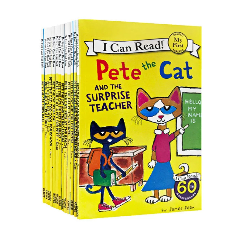 19 Books/Set I Can Read Pete The Cat Picture Books Children Baby Famous Story English Tales Child Book Set baby bedtime book