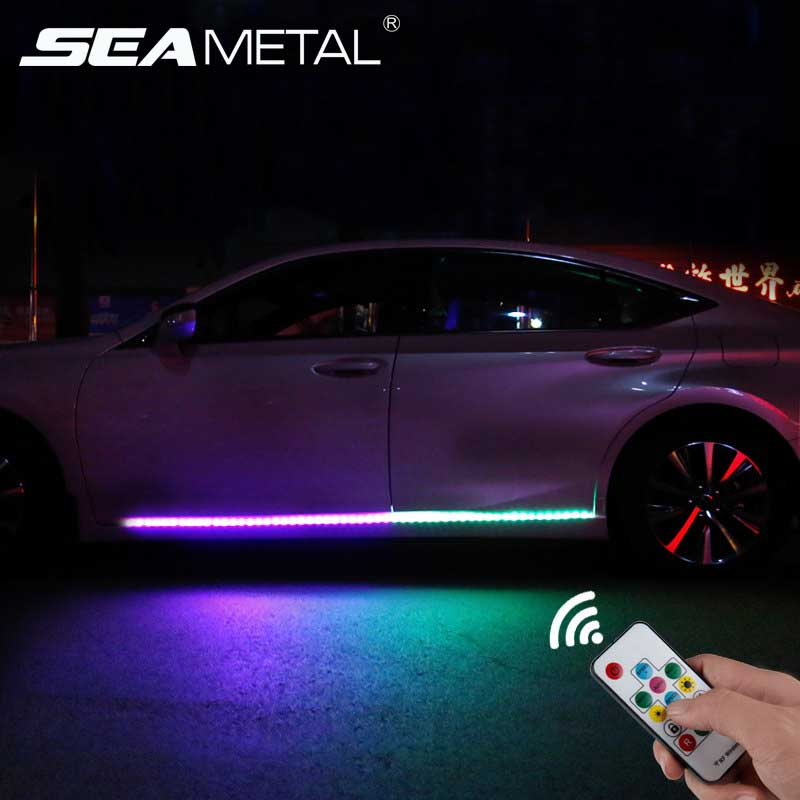12V LED Car Door Lights Universal Auto Door Atmosphere Lamp Exterior Cars Door Decorative Light Auto Light Strips Accessories