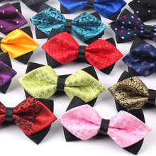 Pointed Bow ties For Men Women Shirts Classic Mens tie  Business Wedding Bowknot Adult Solid Bowties Butterfly Suits Tie