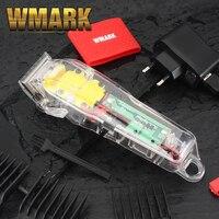 2020 WMARK NG 108 neue Limited Edition Transparent stil Professionelle wiederaufladbare clipper Haar Trimmer 6900 RPM 2200 batterie-in Haar-Trimmer aus Haushaltsgeräte bei