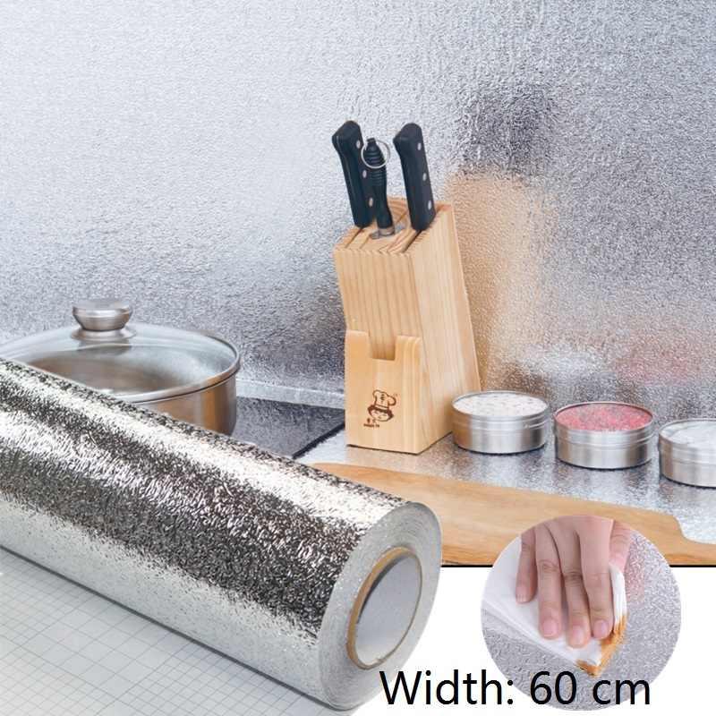Kitchen Wall Sticker Aluminum Foil Waterproof Self-Adhesive Oil-Proof Stickers