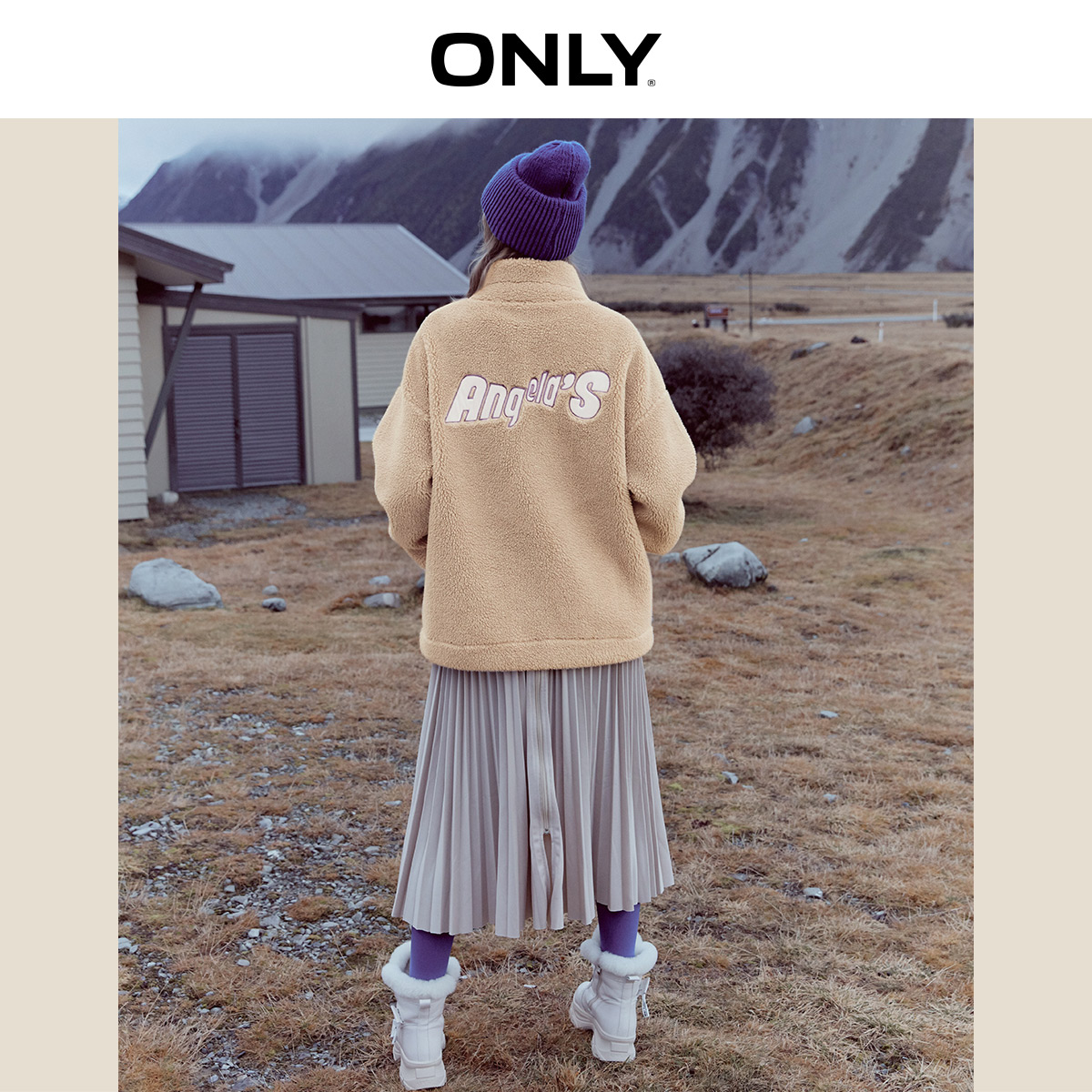 ONLY  Autumn Winter Women's Loose Fit Brushed Sweatshirt | 11939S587