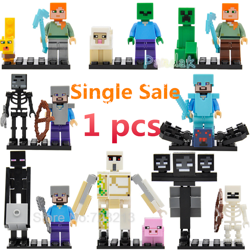 Cute Cartoon Single Sale Building Blocks Sets ONLY Pdf Manual Models Educational Toys For Children X0127 Figure Legoing