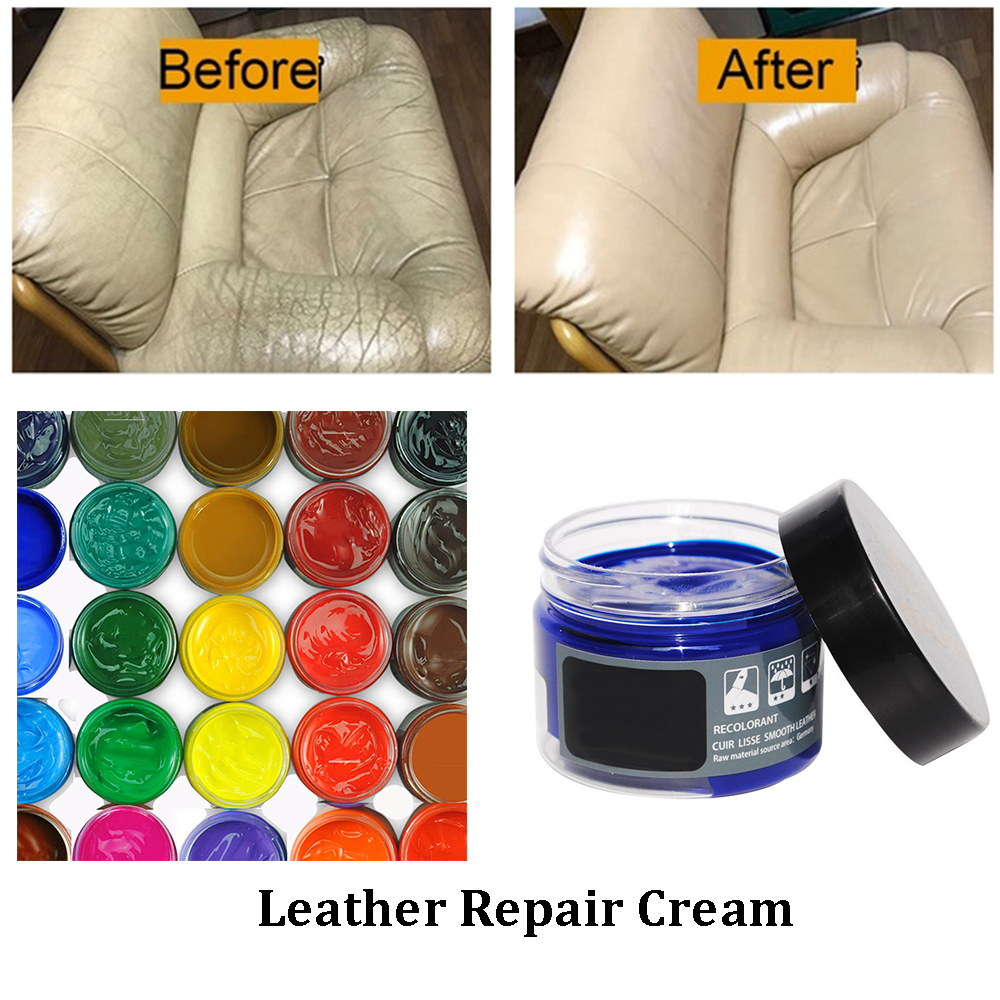 Household Leather Repair Cream Restore Car Seat Couch Shoes Sofa Scratch Scuffs Cream Leather Repair Filler Kit