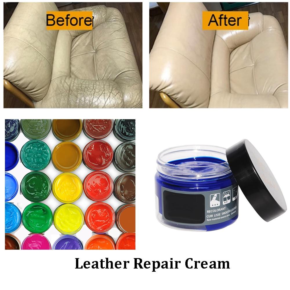 Leather Repair Filler Cream Kit Restore Car Seats Sofa Scuffs Scratch Rips  US