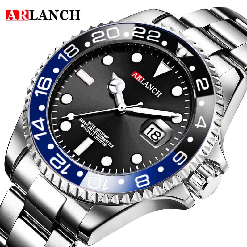 ARLANCH New Hot Luxury Brand Fashion Men Quartz Watches Steel Waterproof Men Sports Watches Relogio Masculino Wristwatches