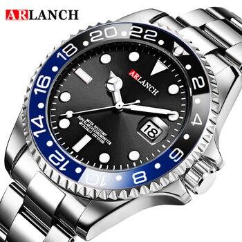 ARLANCH New Hot Luxury Brand Fashion Men Quartz Watches Steel Waterproof Sports Relogio Masculino Wristwatches