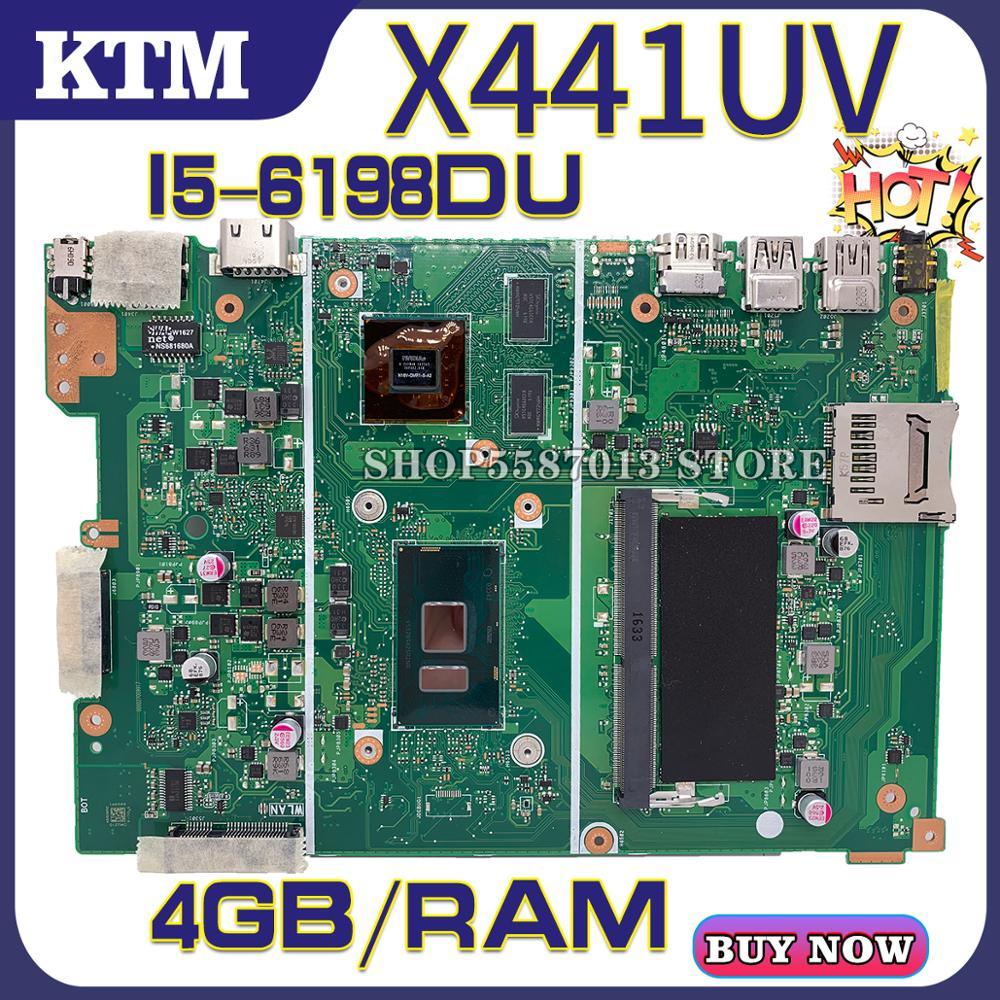X441U For ASUS X441UV F441U A441U X441UVK Laptop Motherboard X441UA Mainboard Test OK I5-6198DU Cpu 4GB-RAM