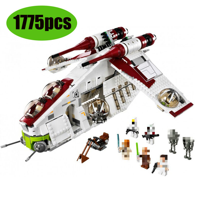 05041 War UCS The Republic Gunship  X Wing Star Tie Fighter Star Wars Building LepinBlocks Set Bricks Toys 75021 75102