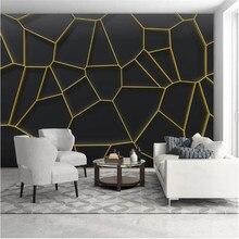 Wellyu – papier peint personnalisé 3d, lignes géométriques abstraites