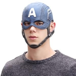 Image 5 - Movie Captain America 3 Civil War Captain America Mask Cosplay Steven Rogers Superhero Latex Helmet Halloween For Men Party Prop