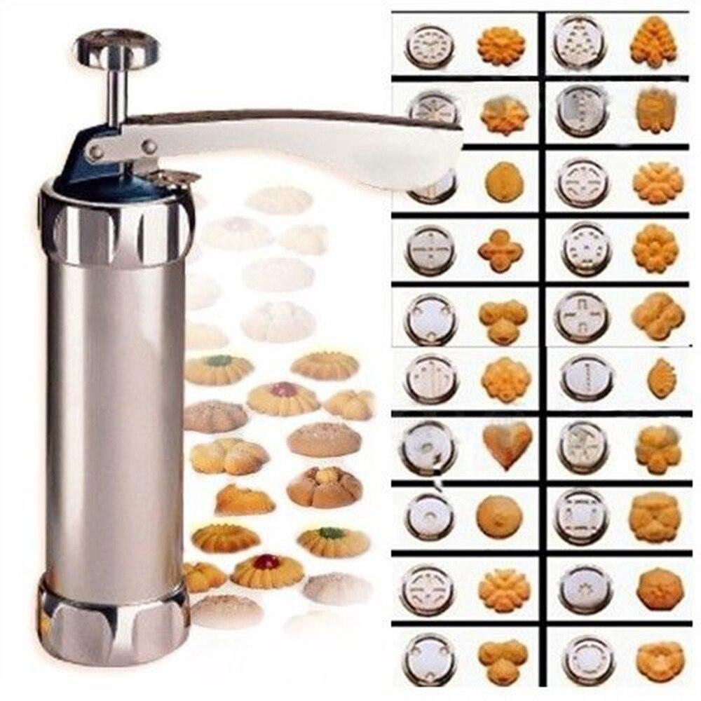 Инструменты для выпечки из нержавеющей стали пресс для печенья набор-машина для печенья набор 20 форм + 4 насадки инструменты для украшения т...