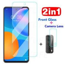 2 em 1 capa completa lente da câmera de vidro temperado para huawei p smart z s protetor de tela para huawei p30 p40 lite e vidro protetor