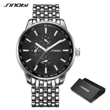 SINOBI Top Brand Luxury Men Women Fashion Casual Stainless Steel Watch Black Sports Geneva Watches Dropship Relogio Masculino