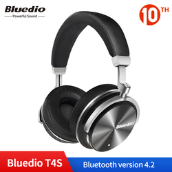 Original Bluedio T4S Bluetooth Headphones with Microphone ANC Active Noise Cancelling Wireless Bluetooth Headset for Smart phone