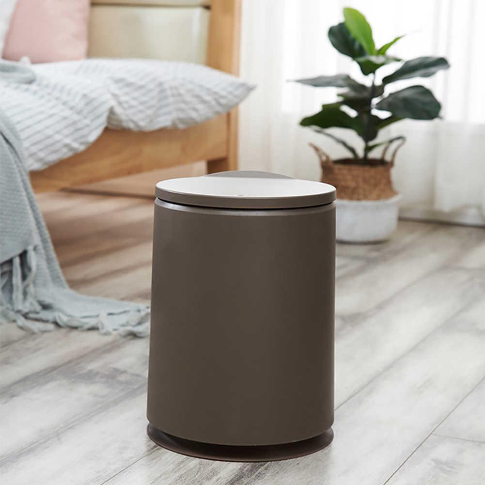 Novos Caixotes do Lixo de Plástico Reciclar Pe Barril Home Office Banho De Limpeza De Lixo Lixo Pode Caixote do lixo Bins Diversos Barril J18