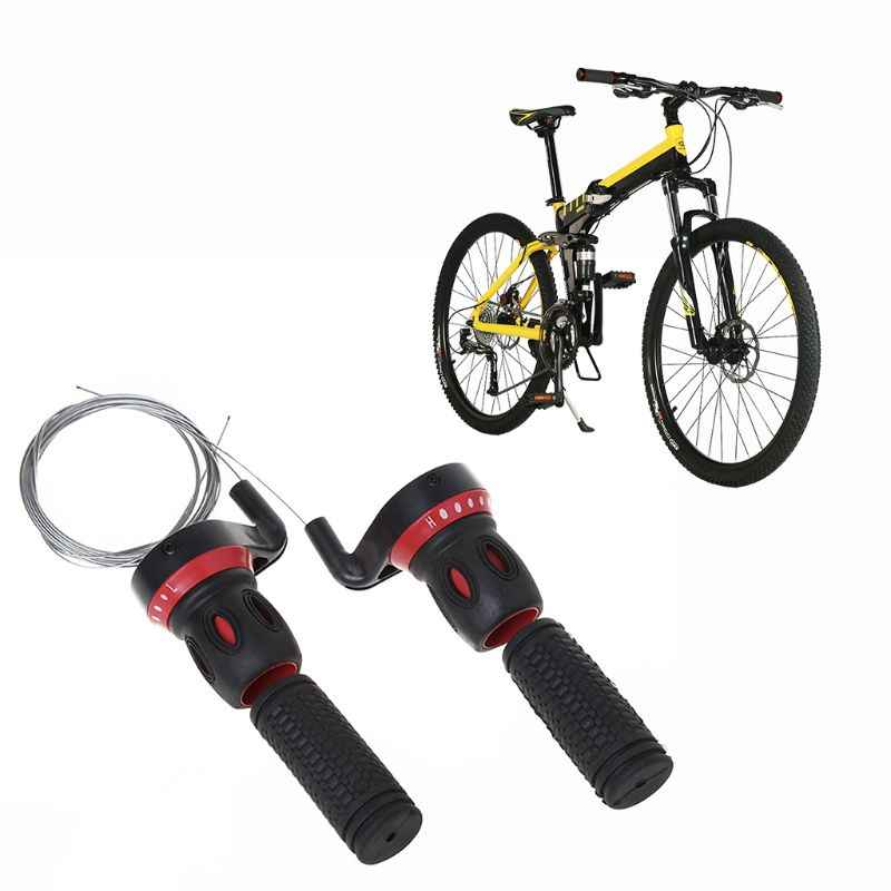 1 Pair Black Grip Shift Twisted Grip Bar Bike Cycle Handlebar Grips Accessories
