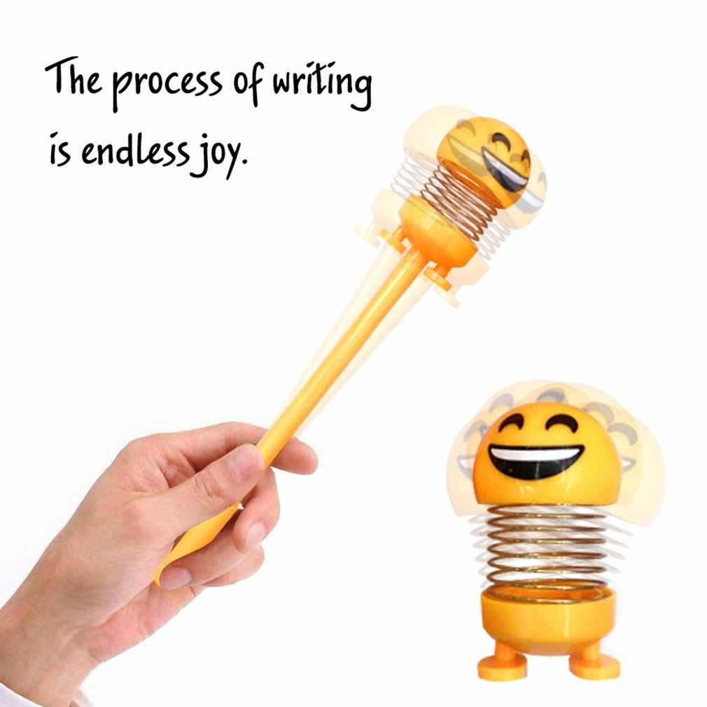 1pcs ยิ้ม Face เจลปากกาฤดูใบไม้ผลิน่ารักปากกา 0.5 Mm ความแปลกใหม่เครื่องเขียนปากกา Kawaii นักเรียนเขียนสีดำปากกา Kawaii อุปกรณ์โรงเรียน
