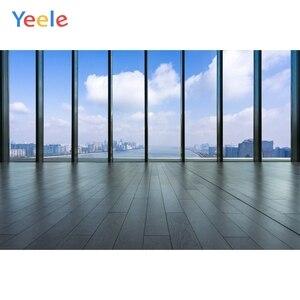 Image 5 - Yeele błękitne niebo białe chmury rama okienna fotografia wnętrza tła dostosowane fotograficzne tła dla Photo Studio